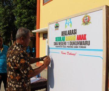 Deklarasi Sekolah Ramah Anak Di SMAN 1 DUKUHWARU